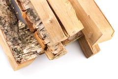 Pila de leña cortada de los registros Imagen de archivo libre de regalías
