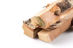 Pila de leña cortada de los registros Imagenes de archivo