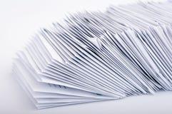 Pila de letras de los posts Imagen de archivo libre de regalías