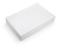 Pila de Libro Blanco en el fondo blanco Foto de archivo libre de regalías