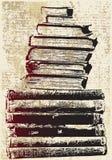 Pila de libro de Grunge Foto de archivo
