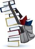 Pila de libro estudiosa Imágenes de archivo libres de regalías