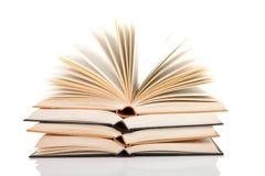 Pila de libros abiertos Fotografía de archivo