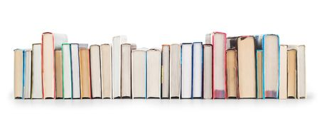 Pila de libros aislados Fotografía de archivo