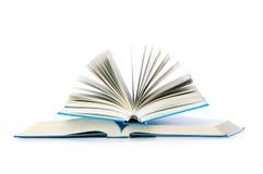 Pila de libros aislados Foto de archivo libre de regalías