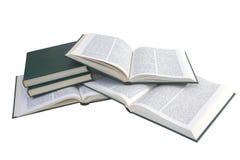 Pila de libros aislados Imágenes de archivo libres de regalías