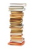 Pila de libros aislados Fotografía de archivo libre de regalías