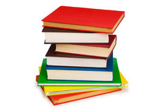 Pila de libros aislados Fotos de archivo