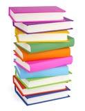 Pila de libros aislados en blanco Imagen de archivo