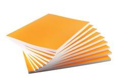 Pila de libros amarillos Fotos de archivo