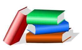 Pila de libros coloreados Fotos de archivo