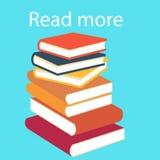 Pila de libros coloridos Imagen de archivo