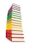 Pila de libros coloridos del vintage Imágenes de archivo libres de regalías