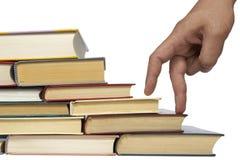 Pila de libros de la educación foto de archivo