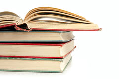 Pila de libros en blanco Fotografía de archivo