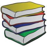 Pila de libros multicolores Imagen de archivo libre de regalías