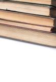 Pila de libros muy viejos Foto de archivo
