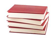 Pila de libros rojos Imagen de archivo libre de regalías