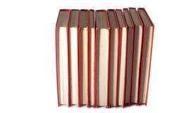 Pila de libros rojos Foto de archivo