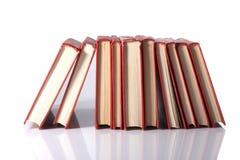 Pila de libros rojos Foto de archivo libre de regalías