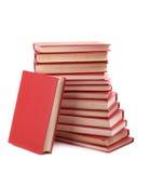 Pila de libros rojos Fotografía de archivo libre de regalías