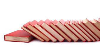 Pila de libros rojos Imagen de archivo