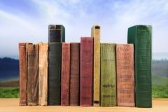pila de libros sobre el fondo natural imagen de archivo