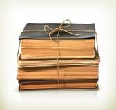 Pila de libros viejos stock de ilustración