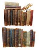 Pila de libros viejos del grunge imagen de archivo