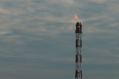 Pila de llamarada del gas Fotografía de archivo libre de regalías