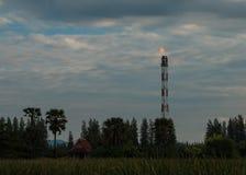 Pila de llamarada del gas Fotografía de archivo