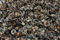 Pila de los altavoces de la televisión Imagen de archivo libre de regalías