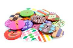 Pila de los Arty de botones Foto de archivo