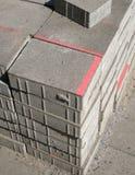 Pila de los bloques de cemento imagen de archivo