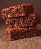 Pila de los brownie Imagen de archivo libre de regalías