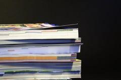 Pila de los catálogos 03 Foto de archivo libre de regalías