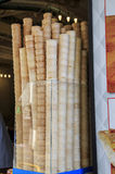 Pila de los conos de helado Fotografía de archivo libre de regalías