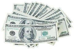 Pila de los dólares Imagen de archivo libre de regalías
