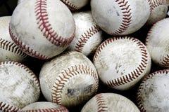 Pila de los deportes de los béisboles más allá de la diversión del americano del tiempo Fotografía de archivo libre de regalías