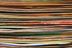 Pila de los diarios viejos Imágenes de archivo libres de regalías