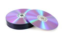 Pila de los dvds 2 Imagenes de archivo