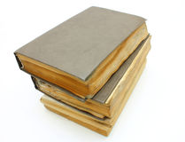 Pila de los libros mohosos viejos Foto de archivo