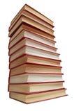 Pila de los libros rojos Imágenes de archivo libres de regalías