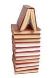 Pila de los libros rojos Foto de archivo libre de regalías