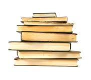 Pila de los libros viejos Foto de archivo
