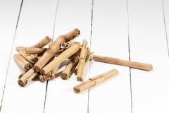 Pila de los palillos de canela Imagen de archivo