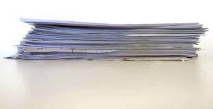 Pila de los papeles imagen de archivo