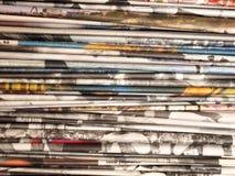 Pila de los periódicos 2 Fotografía de archivo libre de regalías