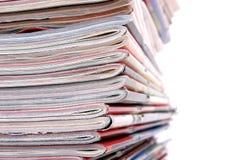 Pila de los periódicos Imagen de archivo