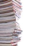 Pila de los periódicos Fotografía de archivo libre de regalías